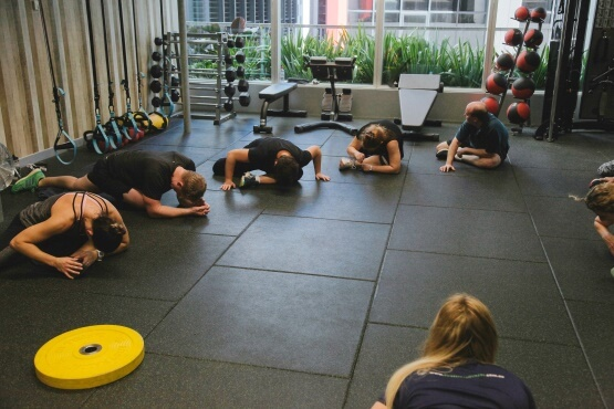 Corporate training stretching